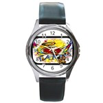Taken-Tattoo-Belt-Buckle Round Metal Watch