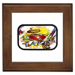 Taken-Tattoo-Belt-Buckle Framed Tile