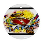 Taken-Tattoo-Belt-Buckle Ornament (Round)