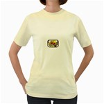 Taken-Tattoo-Belt-Buckle Women s Yellow T-Shirt