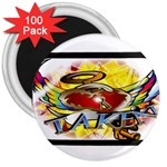 Taken-Tattoo-Belt-Buckle 3  Magnet (100 pack)