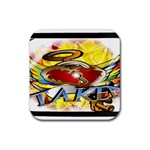 Taken-Tattoo-Belt-Buckle Rubber Coaster (Square)
