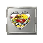 Taken-Tattoo-Belt-Buckle Mega Link Heart Italian Charm (18mm)