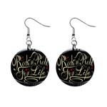 Rock-n-Roll-For-Life-Tattoo-Belt-Buckle 1  Button Earrings