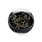 Rock-n-Roll-For-Life-Tattoo-Belt-Buckle Rubber Coaster (Round)
