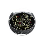 Rock-n-Roll-For-Life-Tattoo-Belt-Buckle Magnet 3  (Round)