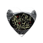Rock-n-Roll-For-Life-Tattoo-Belt-Buckle Magnet (Heart)