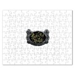 Rock-n-Roll-For-Life-Tattoo-Belt-Buckle Jigsaw Puzzle (Rectangular)
