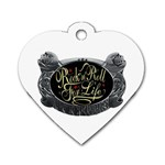 Rock-n-Roll-For-Life-Tattoo-Belt-Buckle Dog Tag Heart (One Side)