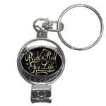 Rock-n-Roll-For-Life-Tattoo-Belt-Buckle Nail Clippers Key Chain