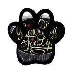 Rock-n-Roll-For-Life-Tattoo-Belt-Buckle Magnet (Paw Print)