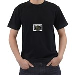 Rock-n-Roll-For-Life-Tattoo-Belt-Buckle Black T-Shirt (Two Sides)