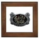 Rock-n-Roll-For-Life-Tattoo-Belt-Buckle Framed Tile