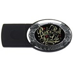 Rock-n-Roll-For-Life-Tattoo-Belt-Buckle USB Flash Drive Oval (1 GB)