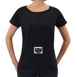 Rock-n-Roll-For-Life-Tattoo-Belt-Buckle Maternity Black T-Shirt