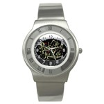Rock-n-Roll-For-Life-Tattoo-Belt-Buckle Stainless Steel Watch