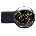 Rock-n-Roll-For-Life-Tattoo-Belt-Buckle USB Flash Drive Round (4 GB)