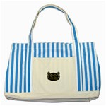 Rock-n-Roll-For-Life-Tattoo-Belt-Buckle Striped Blue Tote Bag
