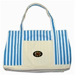 Oval-Black-Mind_-Body-and-Soul-Tattoo-Belt-Buckle Striped Blue Tote Bag