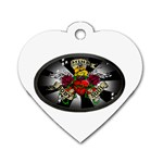 Oval-Black-Mind_-Body-and-Soul-Tattoo-Belt-Buckle Dog Tag Heart (Two Sides)