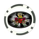 Oval-Black-Mind_-Body-and-Soul-Tattoo-Belt-Buckle Poker Chip Card Guard (10 pack)