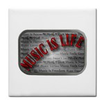 Music-Is-Life-Belt-Buckle Tile Coaster