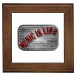 Music-Is-Life-Belt-Buckle Framed Tile