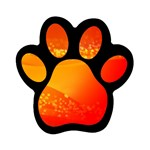 4-703-Fwallpapers_079 Magnet (Paw Print)