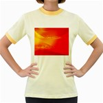 4-703-Fwallpapers_079 Women s Fitted Ringer T-Shirt