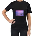 4-15-Backgrounds_1024x768_002 Women s Black T-Shirt (Two Sides)