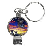 2-77-Animals-Wildlife-1024-010 Nail Clippers Key Chain