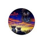 2-77-Animals-Wildlife-1024-010 Rubber Coaster (Round)