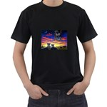 2-77-Animals-Wildlife-1024-010 Black T-Shirt (Two Sides)