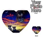 2-77-Animals-Wildlife-1024-010 Multi-purpose Cards (Heart)