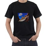 2-74-Animals-Wildlife-1024-007 Black T-Shirt (Two Sides)