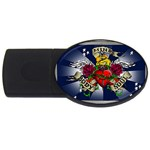 Mind_-Body-_-Soul-Tattoo-Belt-Buckle USB Flash Drive Oval (2 GB)
