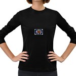 Mind_-Body-_-Soul-Tattoo-Belt-Buckle Women s Long Sleeve Dark T-Shirt