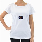 Mind_-Body-_-Soul-Tattoo-Belt-Buckle Maternity White T-Shirt
