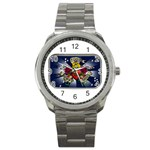 Mind_-Body-_-Soul-Tattoo-Belt-Buckle Sport Metal Watch