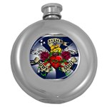 Mind_-Body-_-Soul-Tattoo-Belt-Buckle Hip Flask (5 oz)