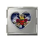 Mind_-Body-_-Soul-Tattoo-Belt-Buckle Mega Link Heart Italian Charm (18mm)