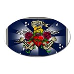 Mind_-Body-_-Soul-Tattoo-Belt-Buckle Magnet (Oval)