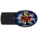 Mind_-Body-_-Soul-Tattoo-Belt-Buckle USB Flash Drive Oval (4 GB)