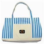 Mind_-Body-_-Soul-Tattoo-Belt-Buckle Striped Blue Tote Bag