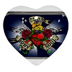 Mind_-Body-_-Soul-Tattoo-Belt-Buckle Heart Ornament (Two Sides)