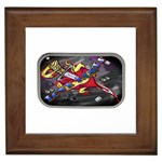 Love-Hurts-Tattoo-Chrome-Belt-Buckle Framed Tile