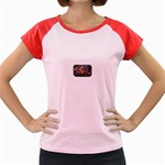 Love-Hurts-Tattoo-Chrome-Belt-Buckle Women s Cap Sleeve T-Shirt