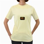Love-Hurts-Tattoo-Chrome-Belt-Buckle Women s Yellow T-Shirt