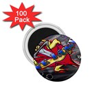 Love-Hurts-Tattoo-Chrome-Belt-Buckle 1.75  Magnet (100 pack)