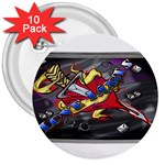 Love-Hurts-Tattoo-Chrome-Belt-Buckle 3  Button (10 pack)